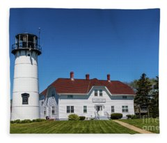 Chatham Coast Guard Station Fleece Blanket