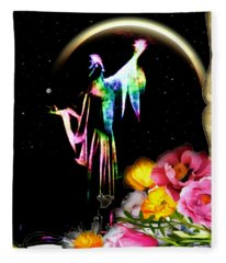 Galadriel Of The Flowers Fleece Blanket