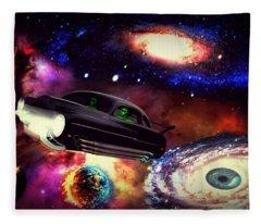 Galaxy Drive Fleece Blanket