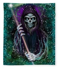 Galaxy Grim Reaper Fantasy Art Fleece Blanket