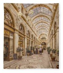 Paris, France - Galerie Vivienne Fleece Blanket