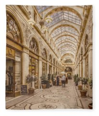 Paris, France - Galerie Vivienne Fleece Blanket