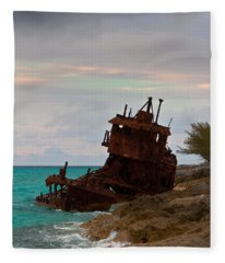 Gallant Lady Aground Fleece Blanket