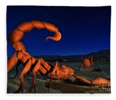 Galleta Meadows Estate Sculptures Borrego Springs Fleece Blanket
