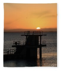Galway Bay Sunrise Fleece Blanket