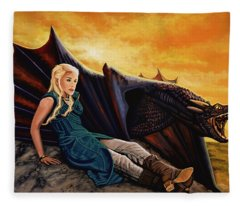Game Of Thrones Painting Fleece Blanket
