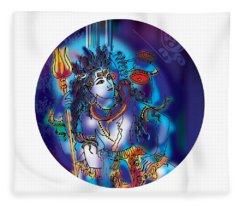 Gangeshvar Shiva Fleece Blanket