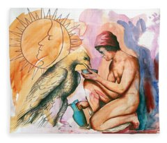 Ganymede And Zeus Fleece Blanket