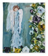 Garden Angel Fleece Blanket