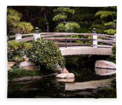 Garden Bridge Fleece Blanket