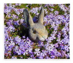 Garden Bunny Fleece Blanket