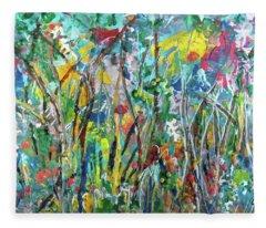 Garden Flourish Fleece Blanket