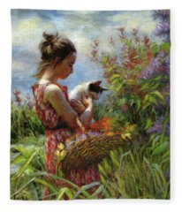 Garden Gatherings Fleece Blanket