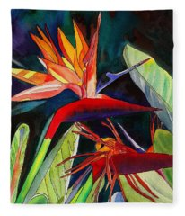 Garden Of Paradise Fleece Blanket