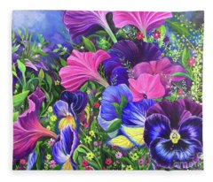 Garden Party Fleece Blanket