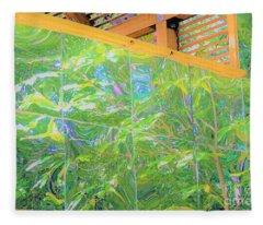 Garden Reflections Fleece Blanket