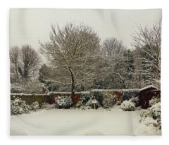 Garden Snow Fleece Blanket