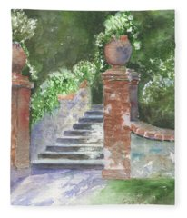 Garden Steps Fleece Blanket