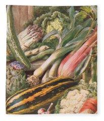 Garden Vegetables Fleece Blanket