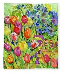 Garden Visitors Fleece Blanket
