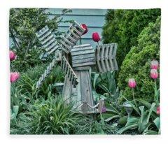 Garden Windmill Fleece Blanket