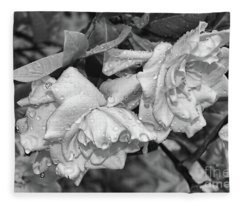 Gardenia After Rain Fleece Blanket