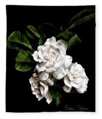 Gardenia Art Paintography Fleece Blanket
