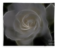 Gardenia Blossom Fleece Blanket