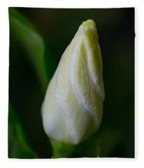 Gardenia Bud Fleece Blanket