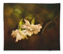 Gardenia In The Garden Fleece Blanket