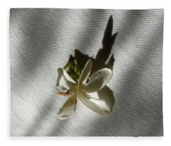 Gardenia On Tablecloths  Fleece Blanket