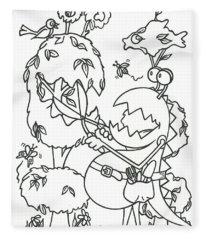 Gardening Monster Fleece Blanket