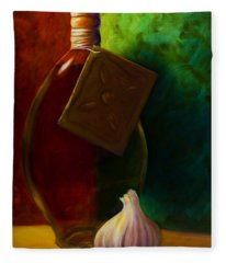Garlic And Oil Fleece Blanket