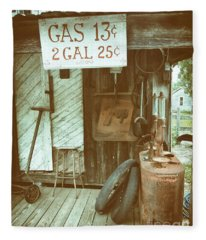 Gas 13 Cents Fleece Blanket