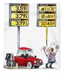 Gas Price Curse Fleece Blanket