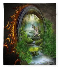 Gate To Another World Fleece Blanket