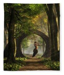 Gate To Pan's Garden Fleece Blanket