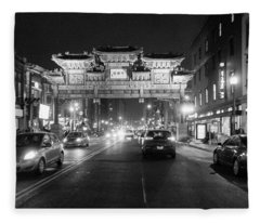 Gateway To Chinatown Fleece Blanket