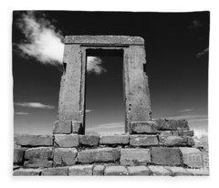 Gateway To The Past Fleece Blanket