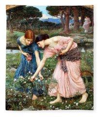 Gather Ye Rosebuds While Ye May Fleece Blanket