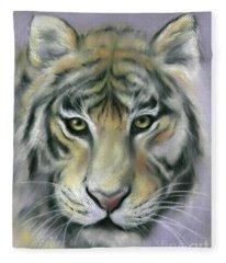 Gazing Tiger Fleece Blanket