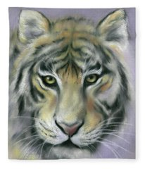 Gazing Tiger Fleece Blanket