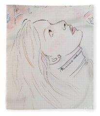 Gazing Up At Chagall  Fleece Blanket