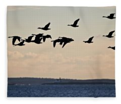 Geese And Cuckholds Fleece Blanket