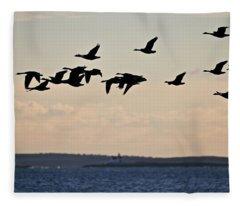 Geese And Cuckholds Fleece Blanket