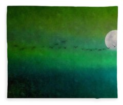 Geese In Flight  Fleece Blanket