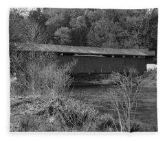 Geiger Covered Bridge B/w Fleece Blanket