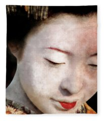 Geisha Girl Fleece Blanket