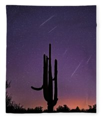 Geminid Meteor Shower #1, 2017 Fleece Blanket