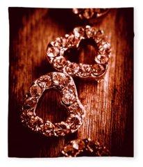 Gems Of Fashionable Romance Fleece Blanket